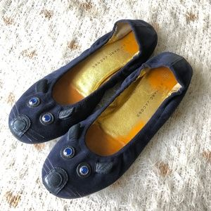 Marc by Marc Jacobs Navy Blue Suede Mouse Flats